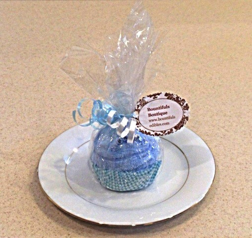 Bountifuls assorted boy's Baby Combo (washcloth and socks) Cupcake.