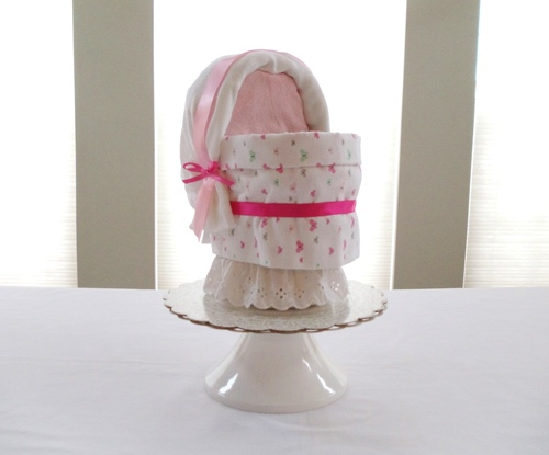 "Eco Butterfly ""You Make Me Happy"" Bassinet Diaper Cake"