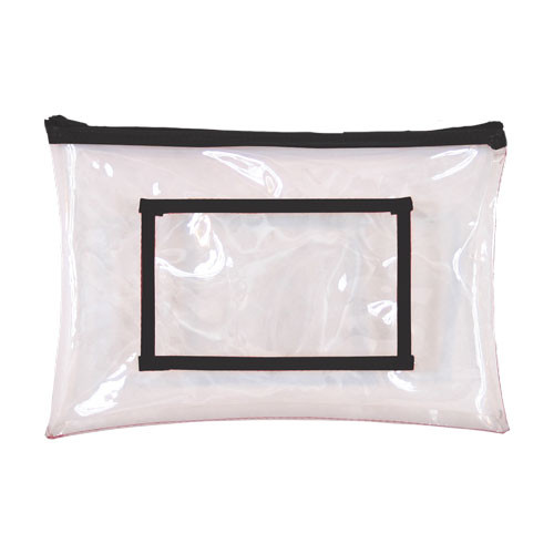 MEDIUM Clear Top Zip Bag