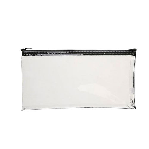 Clear Vinyl Zipper Deposit Bag