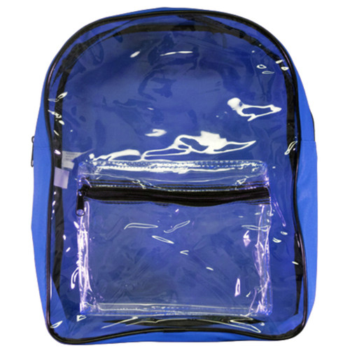 Clear Vinyl Employee Backpack