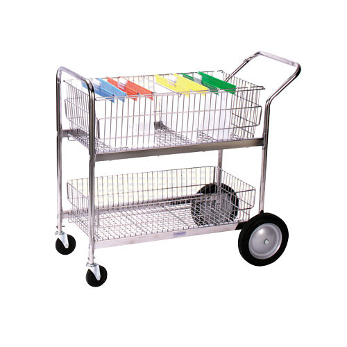 Large Wire Mail Cart