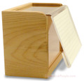 4x6 Maple Wood Recipe-Box - Acrylic Front - Made In USA