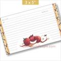3x5 Rustic Apples Recipe Card