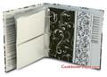 Half Page Recipe Card Binder - Black & White Swirl Binder