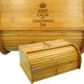 Keep Calm Wood Breadbin