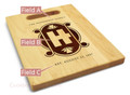 Art Deco 9x12 Engraved Cutting Board Featuring Handle Maple Wood