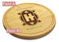 Art Deco 10in Circle Maple Cutting Board with Juice Groove