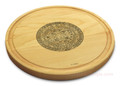 Aztec 10in Round Maple Chopping Board with Juice Groove