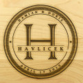 Family Seal 9x12 Grooved Engraved Cutting Board