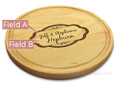 Moderna 10in Circular Cutting Board Maple Made in USA