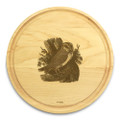 Owl 10in Circle Maple Cutting Board with Juice Groove