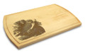 Owl 10x16 Grooved Personalized Cutting Board