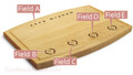 Recognition 9x12 Grooved Personalized Cutting Board