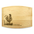Rooster 9x12 Grooved Engraved Cutting Board