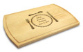 Silverware 10x16 Grooved Engraved Cutting Board