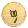 Tulip 10in Round Maple Chopping Board with Juice Groove