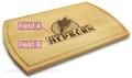 Wheat Grain 10x16 Grooved Monogram Cutting Board
