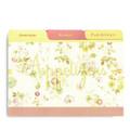 4x6 Tabbed Recipe Card Dividers - Lemon Linen - 9 ea