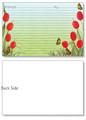 4x6 Red Tulips Recipe Card 40ea