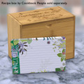 4x6 Recipe Card Jungle Boogie Green  40ea