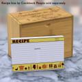 4x6 Recipe Card Retro Icon Yellow 40ea