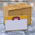 4x6 Recipe Card Purple Ribbon Yellow Polka Dot 40ea