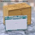 4x6 Recipe Card Lace Settings Teal 40ea