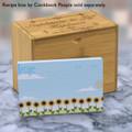 4x6 Recipe Card Sunflower Row Blue 40ea