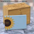 4x6 Recipe Card Single Sunflower  40ea