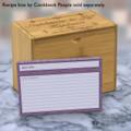 4x6 Recipe Card Agatha Plum Purple 40ea