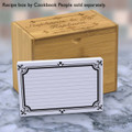 4x6 Recipe Card Formal Fleur de Lis Black and White Card 40ea