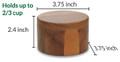 Acacia Salt Box with Magnetic Swivel Lid