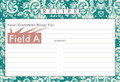 Personalized Recipe Card 4x6 inch Lace Settings Turquoise 40ea