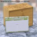 Personalized 4x6 Recipe Card Lace Settings Avocado Green 40ea