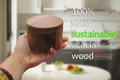 Modern Gift Personalized Acacia Salt Box with Magnetic Swivel Lid