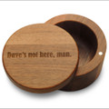 Dave's Not Here Man Pot Stash Box with Magnetic Swivel Lid