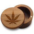 Marijuana Leaf Box with Magnetic Swivel Lid