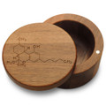 Marijuana THC Molecule Stash Box with Magnetic Swivel Lid