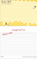 5x7 Beehive Recipe Card for Larger Recipe Binders 20ea