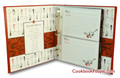 Half Page Recipe Card Organizer Red Leather-Like A La Carte