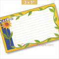 3x5  Recipe Cards with Covers - Sunflower 16ea
