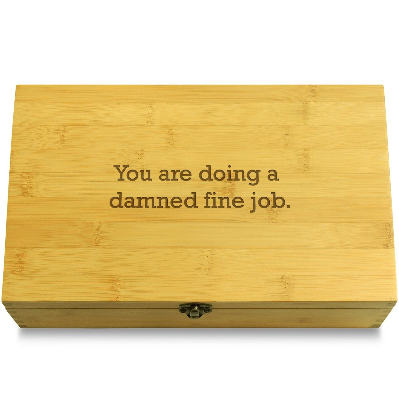 You Are Doing A Damned Fine Job Decorative Bamboo Wood Multikeep Box Bamboo Organizer