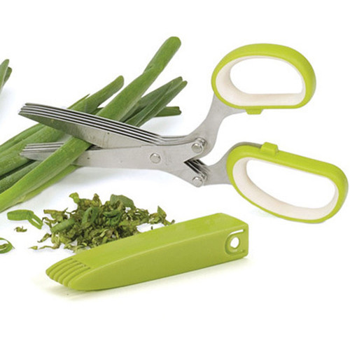 Herb Snipping Scissors Green Handle