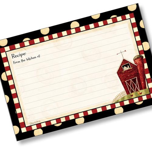 4x6 Recipe Card - Dotty Farm
