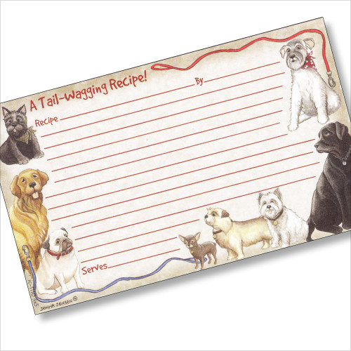 3x5 Faithful Friends Recipe Card
