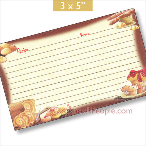 3x5 Our Daily Bread Recipe Card