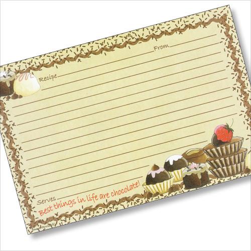 4x6 - I'll Take The Chocolate! Recipe Card