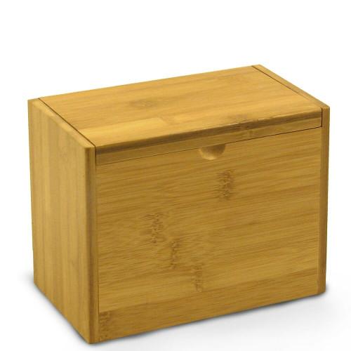 Add Your Logo Bamboo Customized 4x6 Recipe Card Box