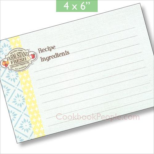 4x6 Farm Stand Recipe Card 40ea